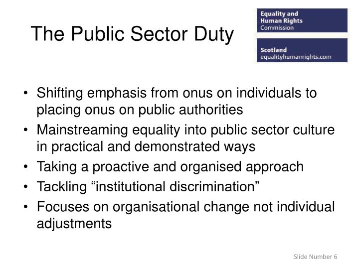 The Public Sector Duty