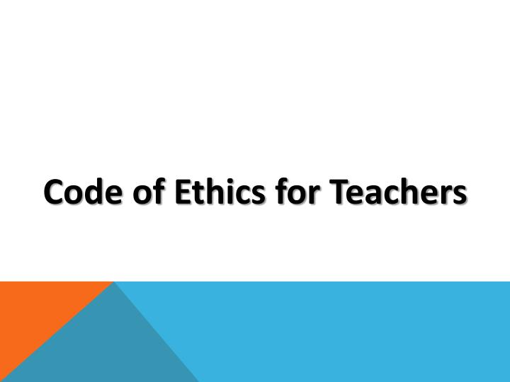 Code Of Ethics For S Ppt With Out