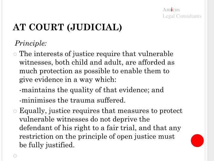 AT COURT (JUDICIAL)