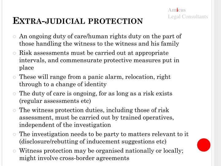 Extra-judicial protection
