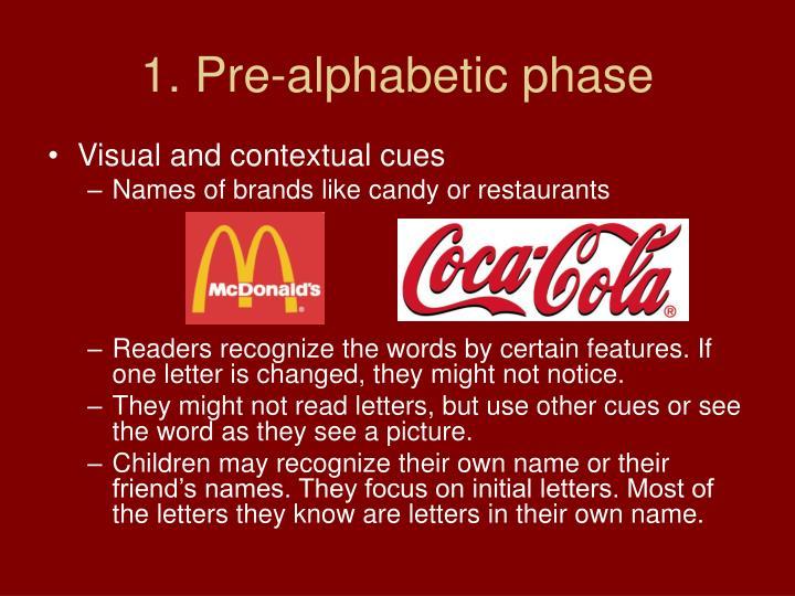 1. Pre-alphabetic phase