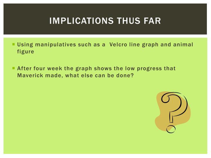 Implications thus far