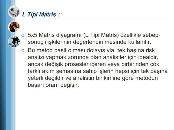 L Tipi Matris :