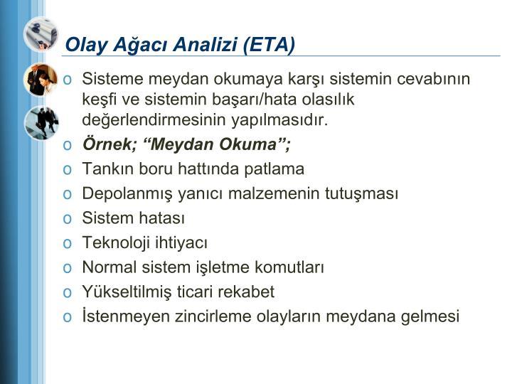 Olay Ağacı Analizi (ETA)