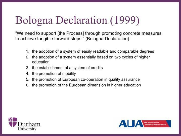 Bologna Declaration (1999)