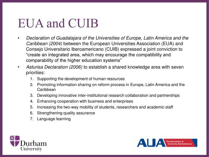 EUA and CUIB