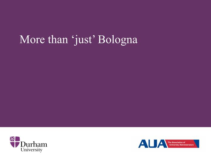 More than 'just' Bologna
