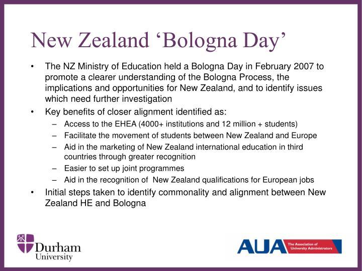 New Zealand 'Bologna Day'