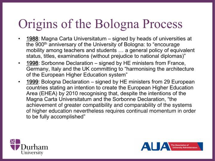 Origins of the Bologna Process