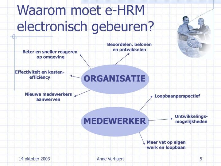 Waarom moet e-HRM