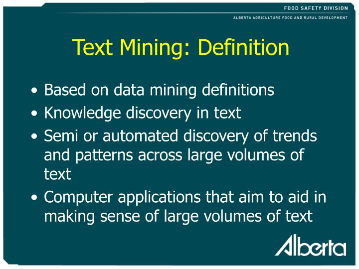 Text Mining: Definition