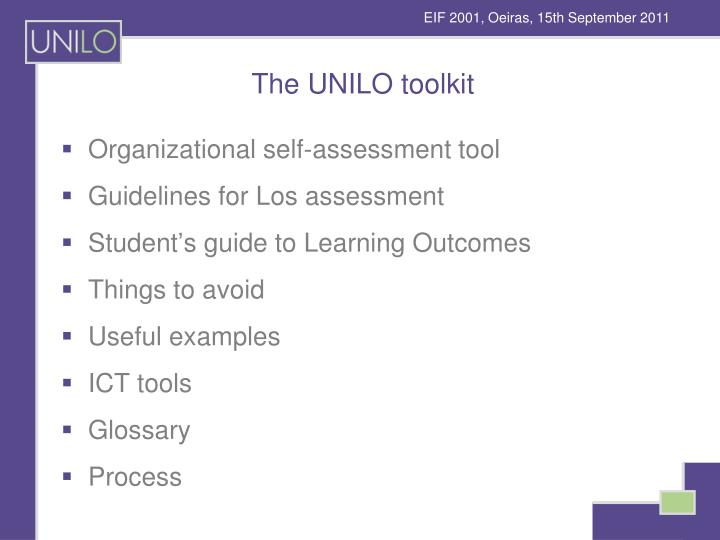 The UNILO toolkit