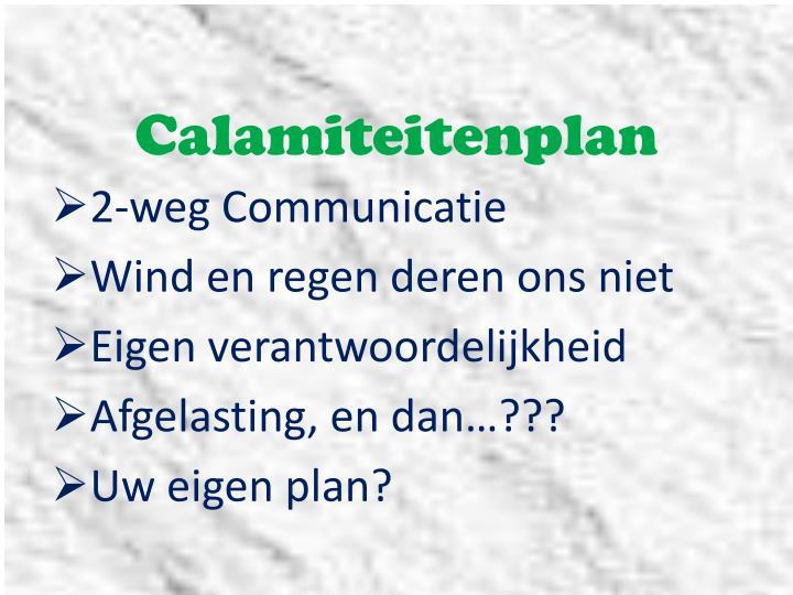 Calamiteitenplan