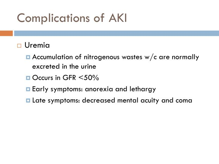 Complications of AKI
