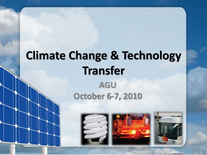 climate change technology transfer n.