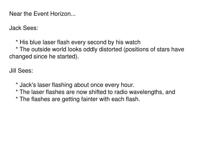Near the Event Horizon...