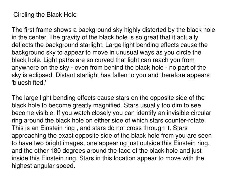 Circling the Black Hole