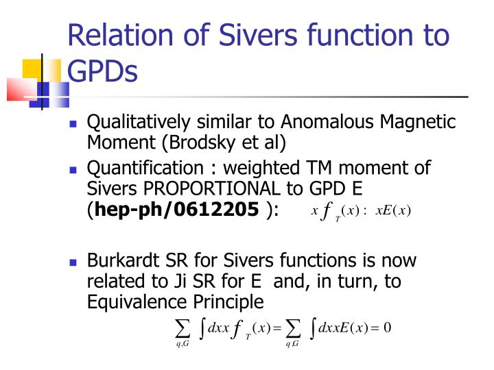 Relation of Sivers function to GPDs