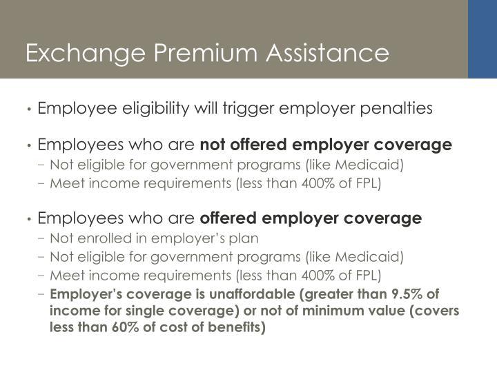 Exchange Premium Assistance
