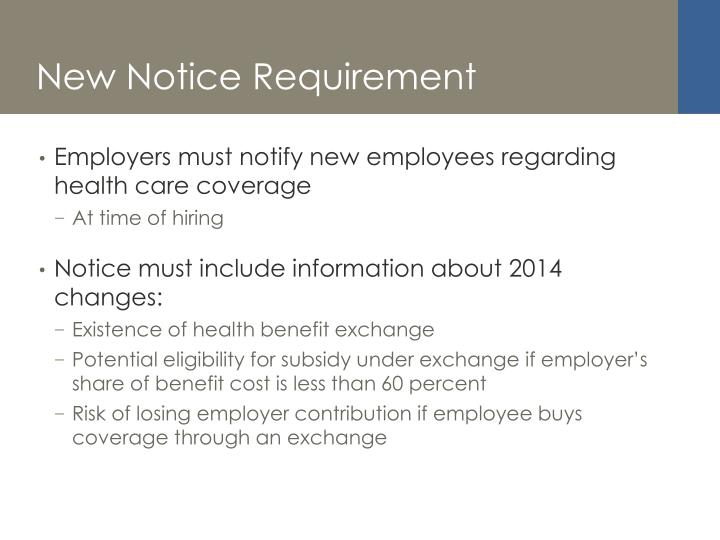 New Notice Requirement