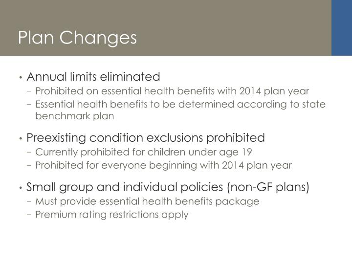 Plan Changes