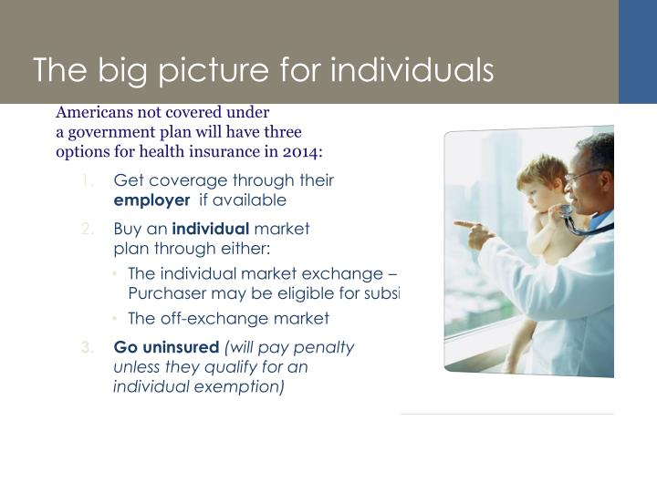The big picture for individuals