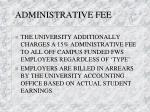 administrative fee