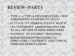 review part i