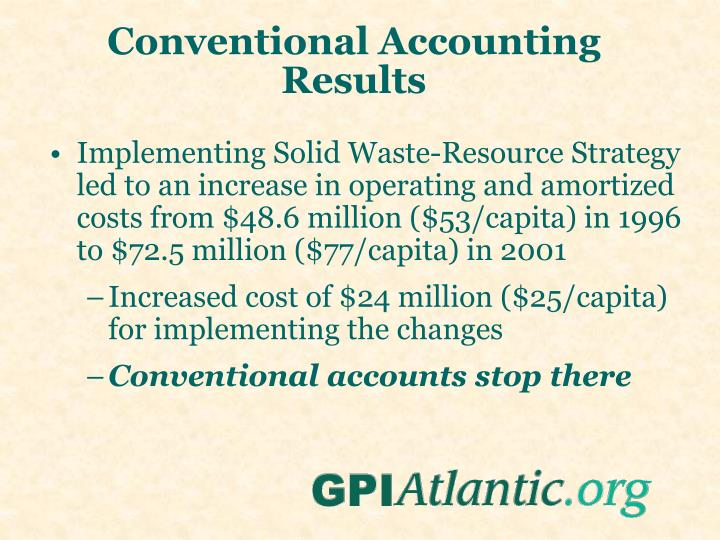 Conventional Accounting Results