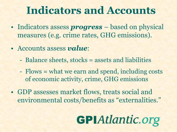 Indicators and Accounts