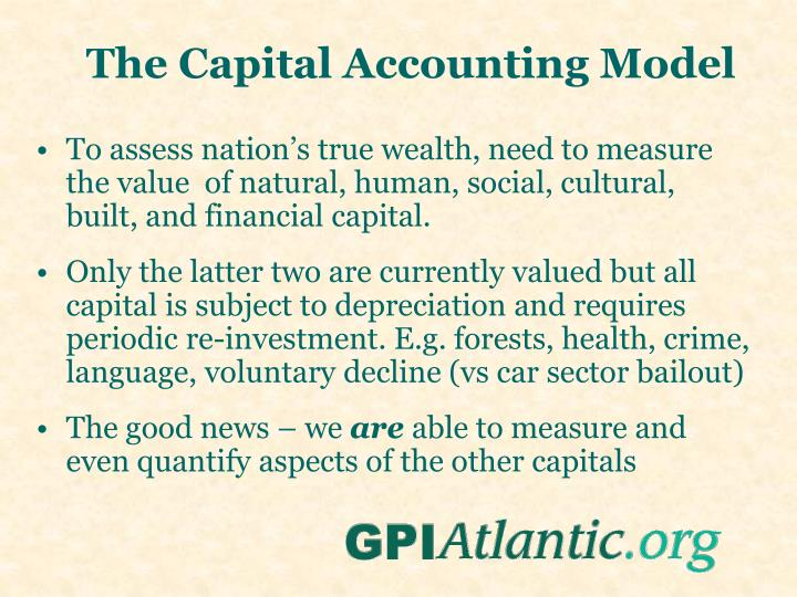 The Capital Accounting Model