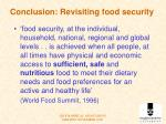 conclusion revisiting food security