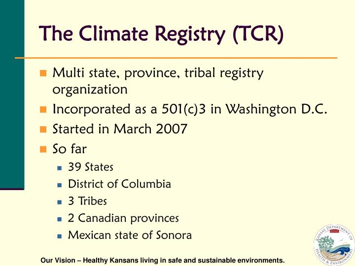 The Climate Registry (TCR)
