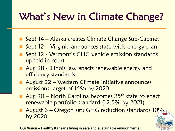 What s new in climate change