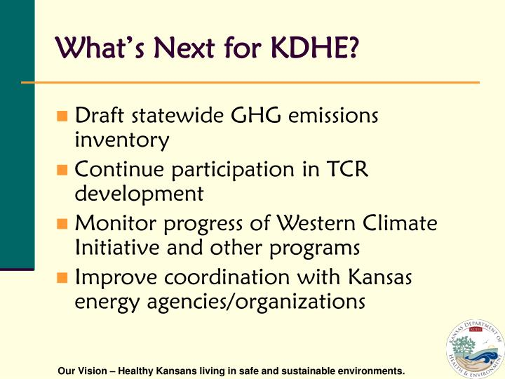 What's Next for KDHE?