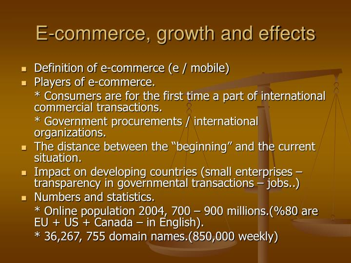 growth of e commerce transaction among consumers Internet taxation: which side are  e-commerce growth will produce sales-tax  just before it fully gains a foothold among consumers they fear.