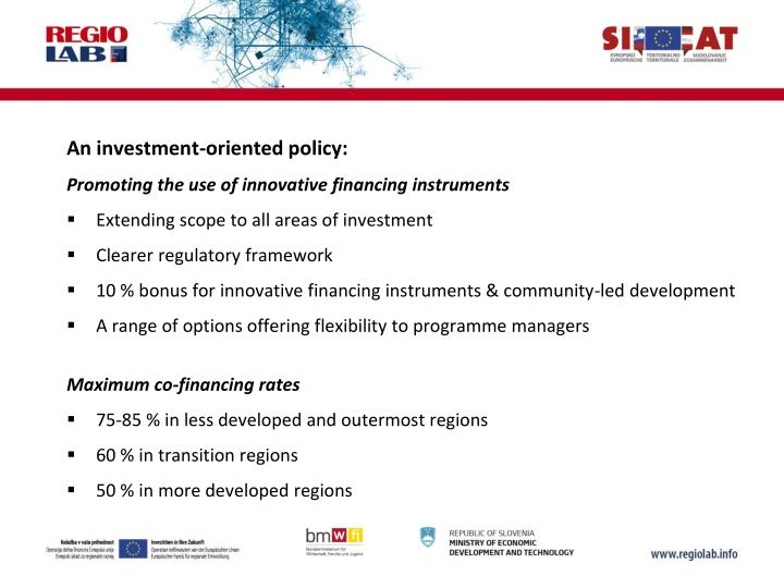 An investment-oriented policy