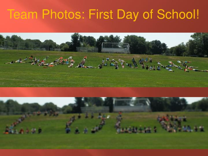 Team Photos: First Day of School!