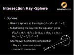intersection ray sphere