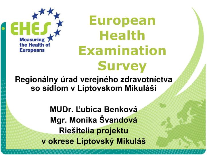 european health examination survey n.