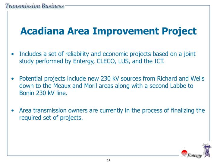 Acadiana Area Improvement Project