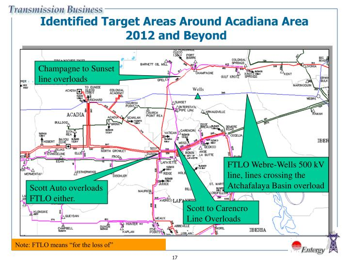 Identified Target Areas Around Acadiana Area