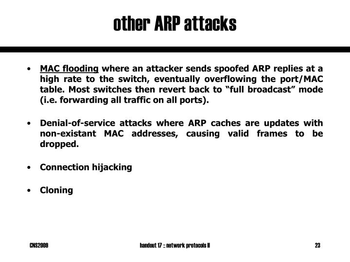 other ARP attacks