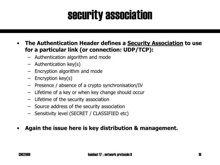 security association