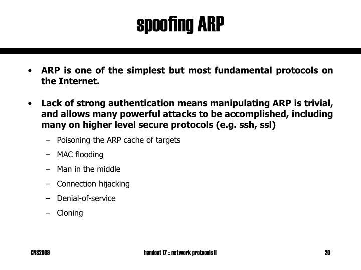 spoofing ARP