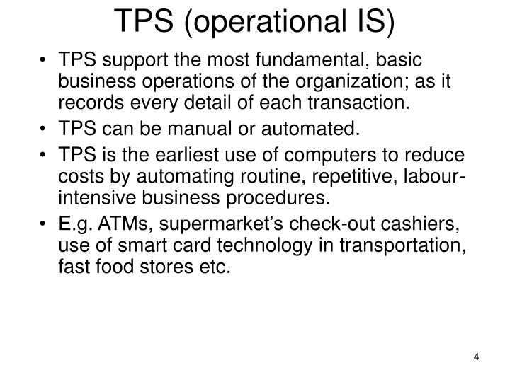 TPS (operational IS)