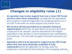 changes in eligibility rules 1