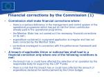financial corrections by the commission 1