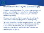 financial corrections by the commission 2