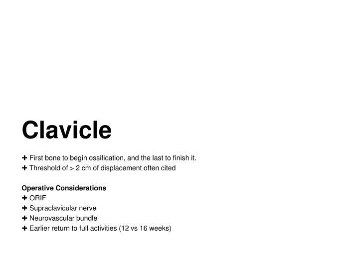 Clavicle